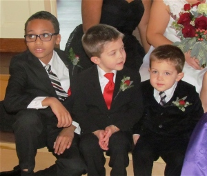 grandsons at wedding