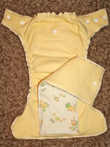 DIY CLOTH DIAPER MADE FROM BABY BLANKET