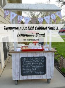LEMONADE STAND MADE FROM AN OLD CABINET
